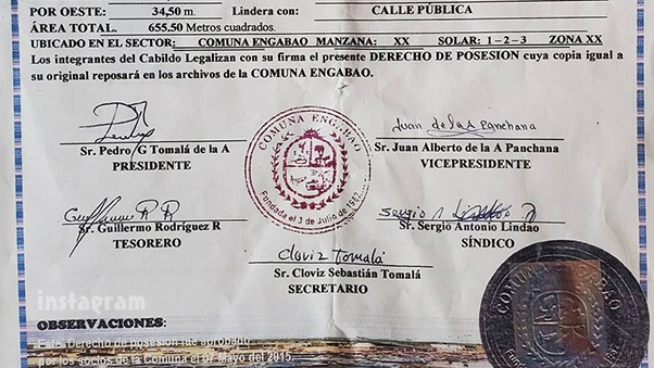 The Other Way Corey Rathgeber property deed for land he owns in Ecuador