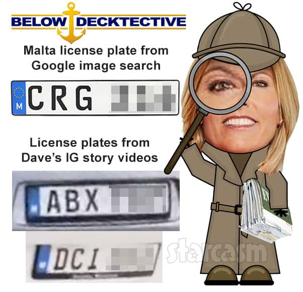 Below Deck Med chef David White evidence Malta license plates from his videos