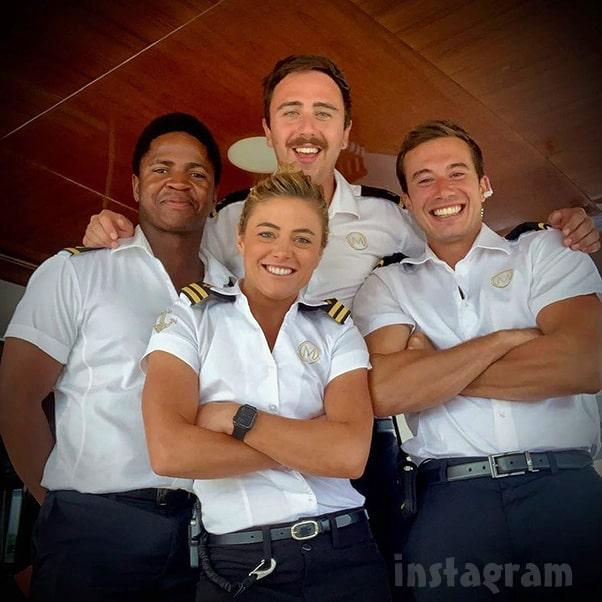 Below Deck Med deck crew Malia Lloyd Mzi David